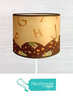 Divertida pantalla de lámpara de seda pintada a mano, con aplicaciones a juego…