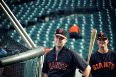 SF Giants Pitcher Matt Cain and his battery mate, Buster Posey
