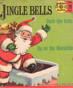 Vintage Jingle Bells Child's 45 Record Album by MuddyRiverAntiques, Christmas Hearts, Christmas Albums, Christmas Past, Christmas Books, Christmas Music, Retro Christmas, Xmas Music, Christmas Scenes, Christmas Things