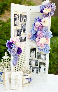 Photo display wedding decore