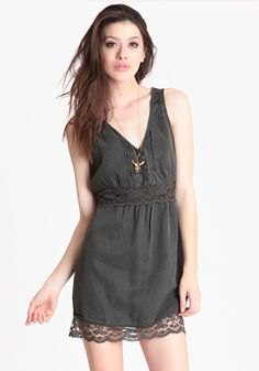 Lace Inset Dress By Free People | Discover more fashionable items @ www.solidcloset.com