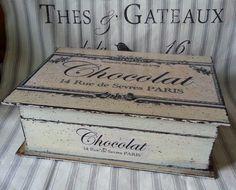 Szkatułka Chocolat Shabby Chic - Petit-art - Srebrna Agrafka