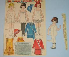 The Dolls' Fashion Parade Newspaper Cut-outs Paper Dolls by Penny Ross, 1923