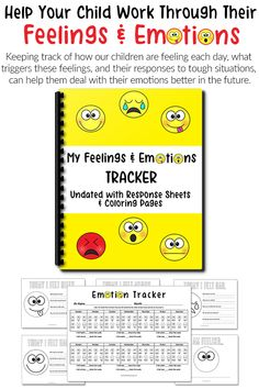 My Feelings and Emotions Tracker (FREE for a Limited Time Only! Coping Skills, Social Skills, Social Work, Life Skills, Learning Weather, Emotional Regulation, Emotional Development, Language Development, Character Development