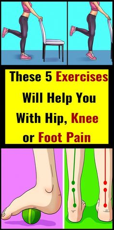 Around of people in the US suffer from hip, knee or foot pain. Here are some exercises that can make you feel better and ease the pain. Raises This exercise targets the muscles around the knee and it strengthens your ankles. How to do it: You will need… Arthritis, Sport Fitness, Health Fitness, Fitness Tips, Health Yoga, Wellness Fitness, Mudras, Medicine Book, Stress