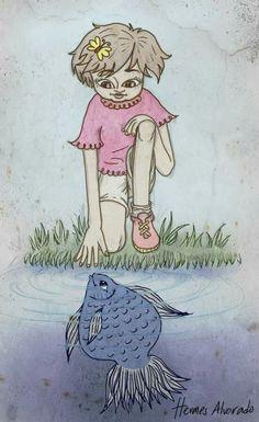 Hermes Alvarado ilustrador. Arte México.