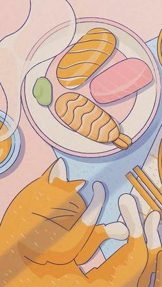 Cute Pastel Wallpaper, Soft Wallpaper, Anime Scenery Wallpaper, Cute Patterns Wallpaper, Kawaii Wallpaper, Aesthetic Themes, Aesthetic Art, Aesthetic Anime, Cute Kawaii Drawings