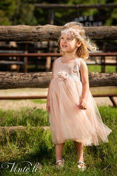 Φόρεμα βάπτισης Vinte Li 2922 μαζί με κορδέλα για τα μαλλιά, annassecret, Girls Dresses, Flower Girl Dresses, Wedding Dresses, Fashion, Dresses Of Girls, Bride Dresses, Moda, Bridal Gowns, Alon Livne Wedding Dresses