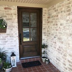 really knocked it out of the park with this exterior home makeover featuring Romabio Classico Limewash 🥰 Seriously, swipe left to see the 'before'. Home Exterior Makeover, Exterior Remodel, White Wash Brick Exterior, Stained Brick Exterior, Stain Brick, Painted Brick Exteriors, Light Brick, Exterior Paint Colors For House, Brick Colors