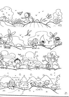 Cute weather/seasons coloring page Seasons Of The Year, Four Seasons, Drawing For Kids, Art For Kids, Weather For Kids, Teach English To Kids, Seasons Activities, Kindergarten Projects, Montessori Art