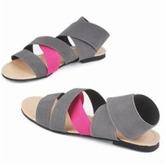 Dancer inspired elastic band sandals - so stylish! $14