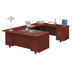 Ascend U-Desk with Right Bridge // NBF Signature Series Ascend Collection