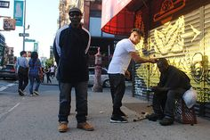 More than fun... #meaningful #threesquarestudio  Homeless Haircuts - Mark Bustos NYC