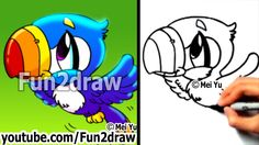 How to Draw a Cartoon Bird - How to Draw a Toucan