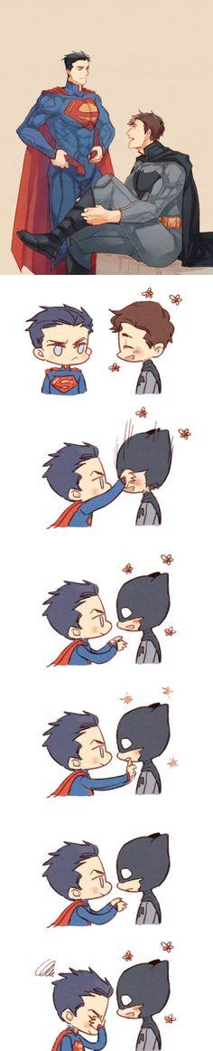Superman and Batman costume-change :D!!!!!