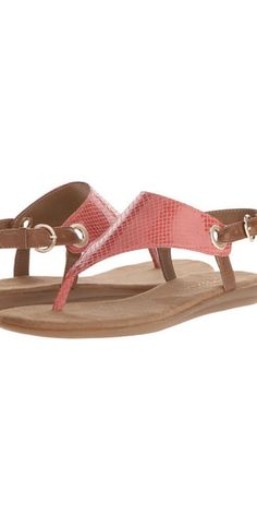 Aerosoles Conchlusion: The Conchlusion's cushioned footbed will make you feel like you're walking on clouds, and the adjustable ankle strap prevents any foot slippage. The chic snake print, available in three colors, pairs as well with jean shorts as with a sundress.