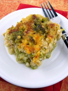 Broccoli Cheese Rice Casserole - no soup cans!