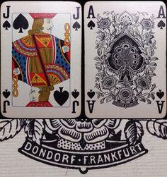 c.1925 Dondorf Poker #400 Last Edition 52/52 Linen Finish German Playing Cards | eBay