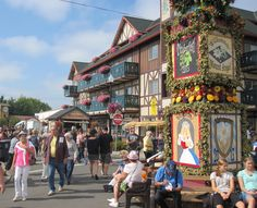The Mt. Angel Oktoberfest - said to be one of the most authentic Oktoberfest events held outside of Germany. Occurs the second weekend in September in Mt. Angel, Ore.