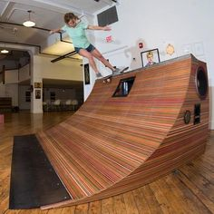 Subwoofer Skate Ramp made from old Skateboards - Imgur