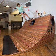Subwoofer Skate Ramp made from old Skateboards - Imgur