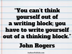 Writer's block essay