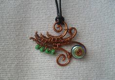 Copper Freestyle Swirl Pendant #HAF #HAFshop #handmade #artist