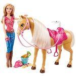 Boneca Barbie Family com Cavalo e Acessórios Mattel.