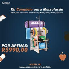 Kit Completo para Musculação! Confira esse e outros produtos na ACCESS SLIM :) www.accessslim.com.br/loja