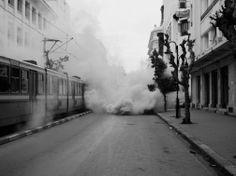 TUNISIA. Tunis. January 18, 2011. Riots between police and demonstrators. Alex Majoli
