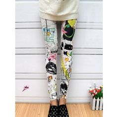 Black Scrawl Painting Women Fahsion One Size Cotton Polyester On Sale... ($7.99) via Polyvore