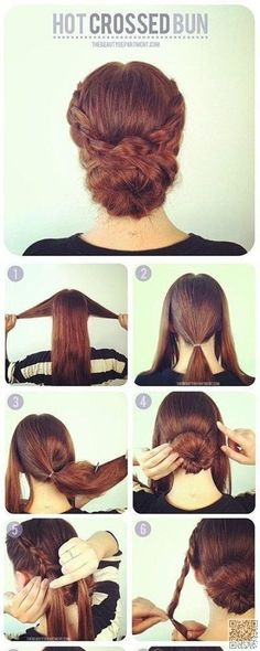 7. Beat the Heat with a Hot #Crossed Bun - Summer #Hair: Keep Your Cool with These #Updos ... → Hair #Twisted
