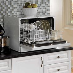 Counter top Dishwasher! For breakfast dishes! No more huge loads and stinky sinks!
