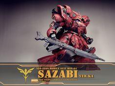 GUNDAM GUY: MG 1/100 Sazabi Ver. Ka 'Battle Scarred' - Customized Build