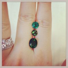 Emerald and tourmaline for a clients consideration...#emerald #tourmaline #vancouver