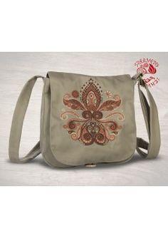 Életfa-szív, hímzett kistáska - bézs Messenger Bag, Diaper Bag, Satchel, Fashion, Moda, Fashion Styles, Diaper Bags, Mothers Bag, Fashion Illustrations