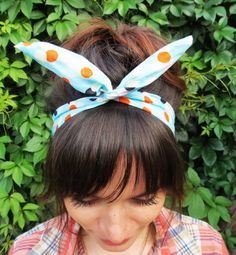 Check out this item in my Etsy shop https://www.etsy.com/ru/listing/245773710/turquoise-headband-pin-up-headband-polka