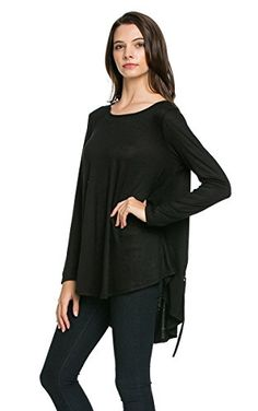 My Space Clothing Women's Round Neck Loose Fit Tunic Knit BLACK Small My Space Clothing http://www.amazon.com/dp/B017HYXTSQ/ref=cm_sw_r_pi_dp_V3JSwb0C5KGEG