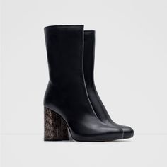 LEATHER ANKLE BOOTS WITH HEEL DETAIL-Shoes and Bags-Woman-NEW IN | ZARA United States