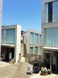weekend house alley  at Shichirigahama, japan