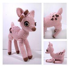 Pink Frosting - amigurumi deer