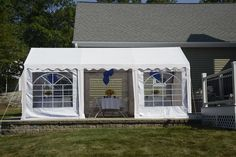 ShelterLogic 25890 10'X20'/ 3X6M Party Tent, 8-Leg Galvanized Steel Frame, White With Enclosure Kit With Windows