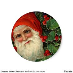 German Santa Christmas Stickers