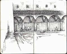 Courtyard at San Marco monastery in Florence, Italy Sketchbook ...