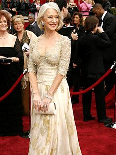 It's Oscar time-get ready for BEST DRESSED (& WORST!)   Helen Mirren (2007)  In a stunningly bodice-skimming Christian Lacroix, the Best Actress winner (The Queen) gave new life to the term ''silver fox.''   Image Credit: Dan MacMedan/WireImage