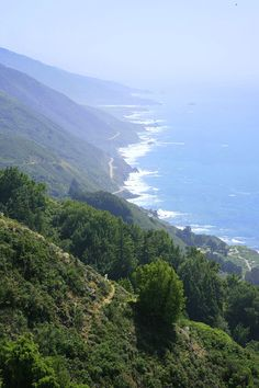 Highway One seen from the Vicente Flat Trail in Los Padres National Forest, Big Sur