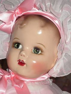 """GORGEOUS BABY BEAUTIFUL (MIRACLE DOLL) 23"""" 1940s VINTAGE IDEAL COMPOSITION DOLL"""