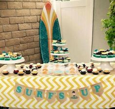 This would be a fun bridal shower pool party theme too!  Surf themed Birthday Pool Party Surf themed by RusticDaisyDesigns