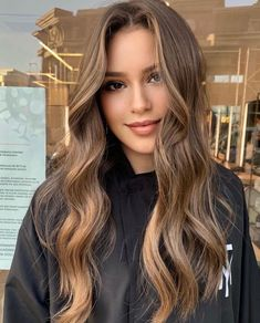 Brown Hair With Blonde Highlights, Brown Hair Balayage, Hair Color Balayage, Hair Highlights, Blonde Hair Dyed Brown, Mousy Brown Hair, Brown Hair Colors, Lightest Brown Hair Color, Brown Hair Inspo