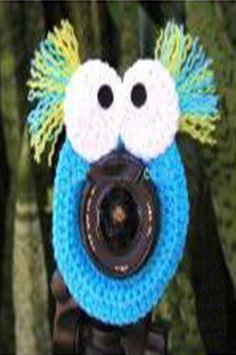 PFLH13 Crochet Blue Monster Lens Buddy Hood Cover Photographer Gift